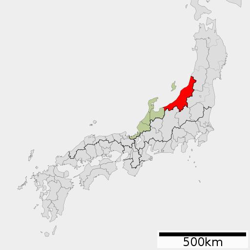 越後国地図