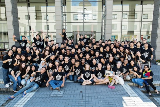 国際大学学生全員集合